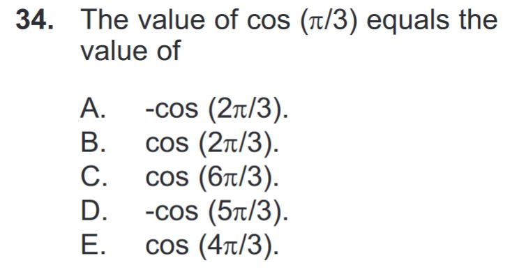 A sample math question from the DAT.
